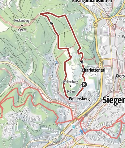 Map / Bäume, Wild und Wald am Wellersberg