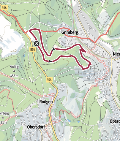 Map / Rundweg Niederdielfen