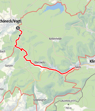 Karte / Durchs Zwotaer Land 5