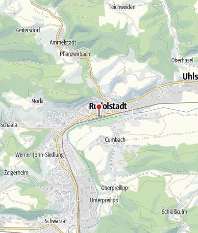 Map / KomBus Haltestelle -Rudolstadt Bhf. Hst.5 - Wanderbus Schwarzatal