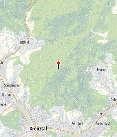 Karte / Wanderparkplatz Kindelsberg