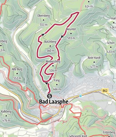 Map / Bad Laasphe für sportliche Märchenfreunde