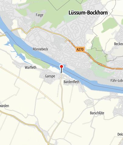 Karte / Stellplatz am Fähranleger, Motzen