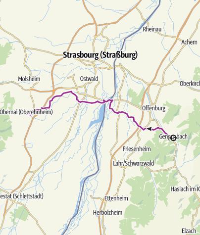 Carte / Gengenbach - Partnerstadt-Tour