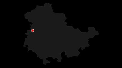 Karte / Fernwanderweg - Rennsteig - Von Hörschel nach Blankenstein - Thüringer Wald