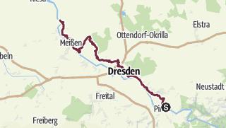 Karte / Sächsischer Weinwanderweg