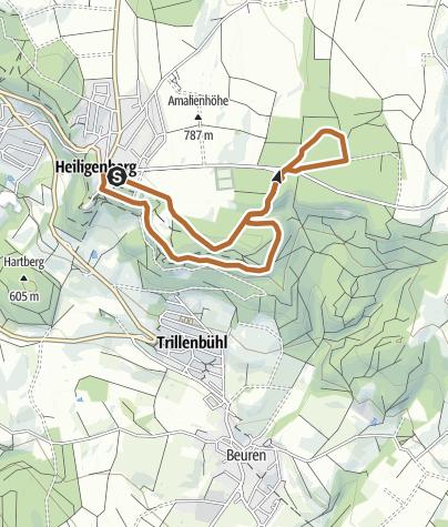 Karte / Heiligenberger Schlosslauf