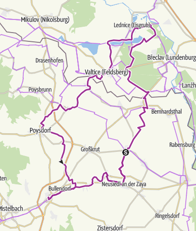 Map / Liechtenstein bicycle tour