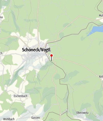 Karte / Wohnmobilstellplätze an der Bikewelt Schöneck