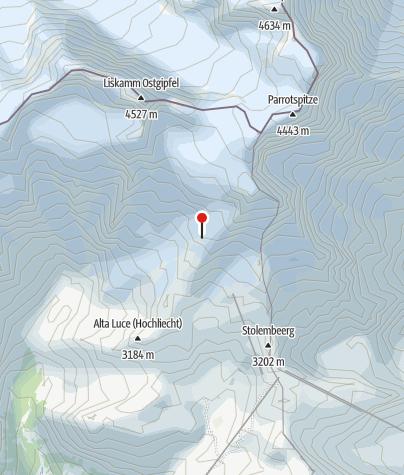 Kaart / Rifugio Gnifetti