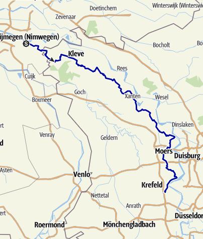 Kaart / Jakobsweg 4 - von Nijmegen nach Krefeld-Linn