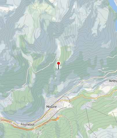 Carte / Bivouac au refuge de l'Aiguille Doran