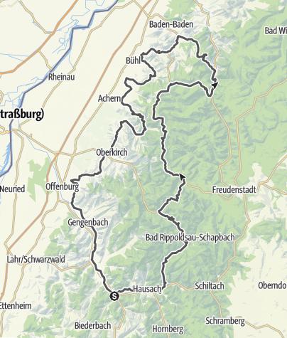 Map / Der Doppelklassiker: Badische Weinstraße und Schwarzwaldhochstraße