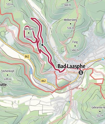 Map / L3 - Ortswanderweg Bad Laasphe - Um das Schloss Wittgenstein