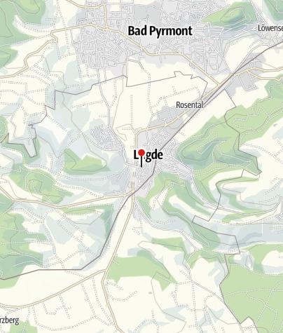 Karte / Tourist-Information Lügde