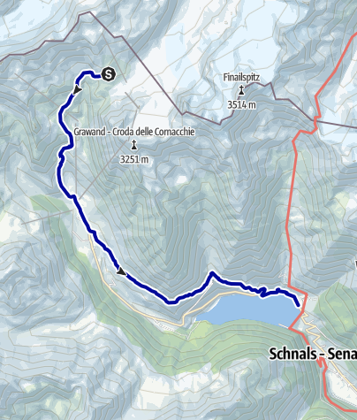 Kaart / Walk to Vernago and bus to the Meran area