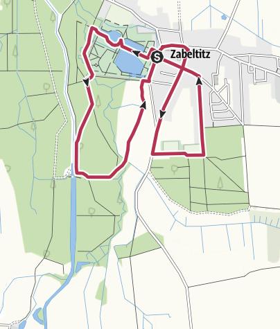 Karte / Dorfspaziergang Zabeltitz