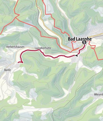 "Karte / L9 - Ortswege Bad Laasphe ""Nach Banfe bis zur Banfer Mühle"""