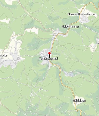 """Karte / Landgasth und Pension""""Zur Tanne"""" Muldenhammer OT Tannenbergsthal"""