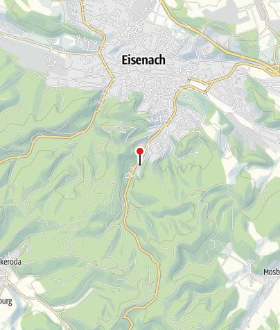 """Map / Eisenacher Ausflugsgaststätte und Wandertreff """"Phantasie"""""""