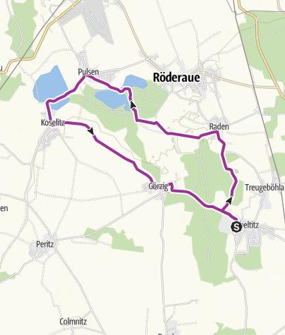 Karte / Mit dem Rad ums Dorf Zabeltitz R2