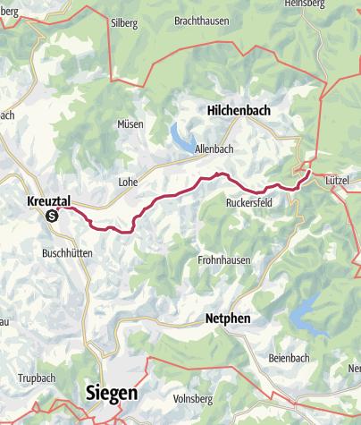 Map / Kreuztaler Zugangsweg zum Rothaarsteig