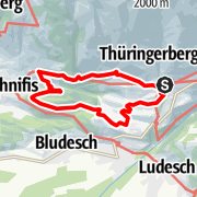 Karte / Gampelin Alpe - Schnifis   Thüringerberg