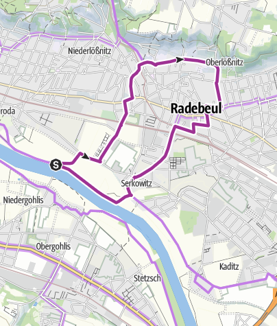 Karte / Radrundweg Oberlößnitz