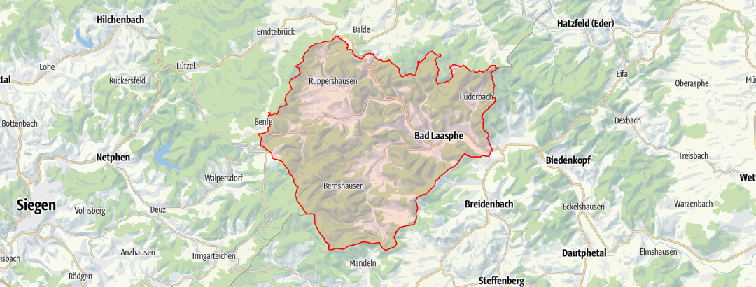 Map / Wanderkarte Bad Laasphe