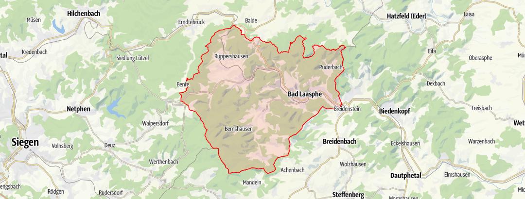 Map / Wanderkarte Bad Laasphe