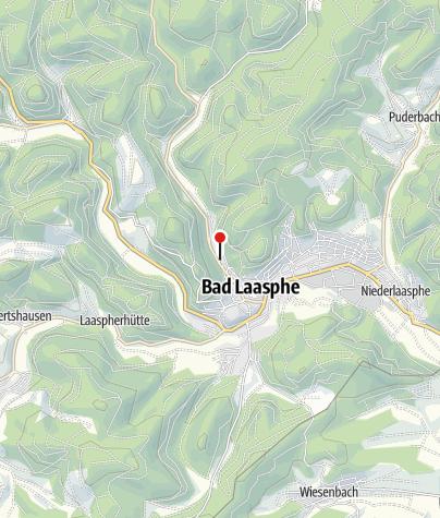 """Map / Wohnmobilstellplätze """"Camping Laasphetal"""""""