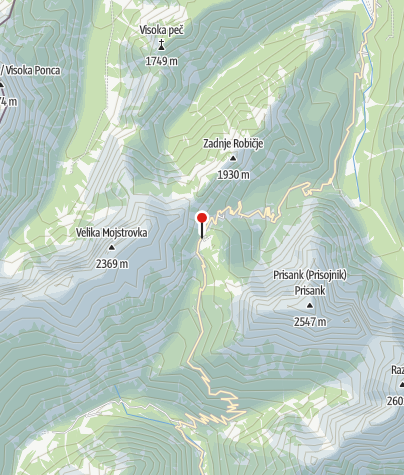 Map / Mountain pass Vršič (1611 m)