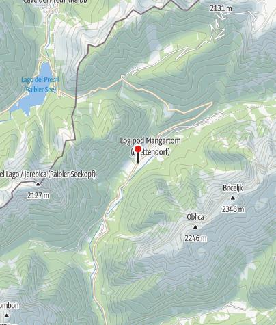 Zemljevid / Potok Kaludrica s slapovi
