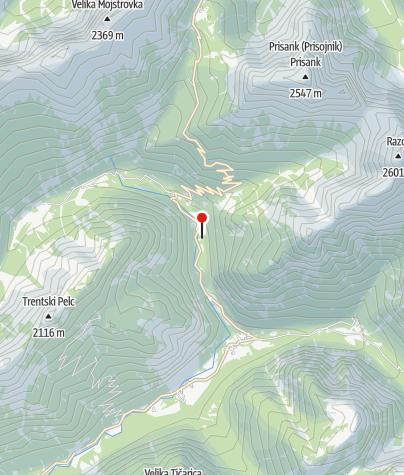 Zemljevid / Alpski botanični vrt Alpinum Juliana
