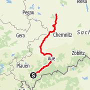 Karte / Mulderadweg für Rennrad