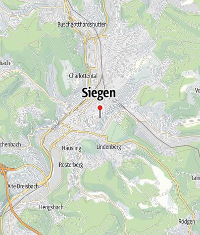 Map / Round the Coronet – A Walk around Siegen's Old Town