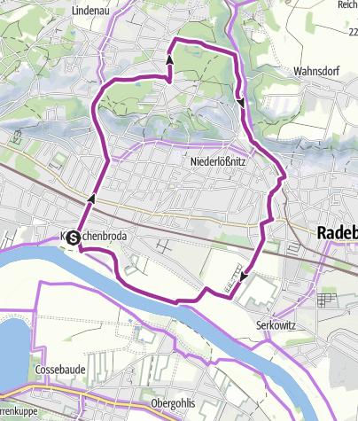 Karte / Radrundweg Lößnitzgrund
