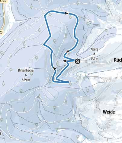 "Karte / Mittlere Loipe ""Fuchshöhlen-Runde"""