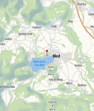 Zemljevid / Blejski grad