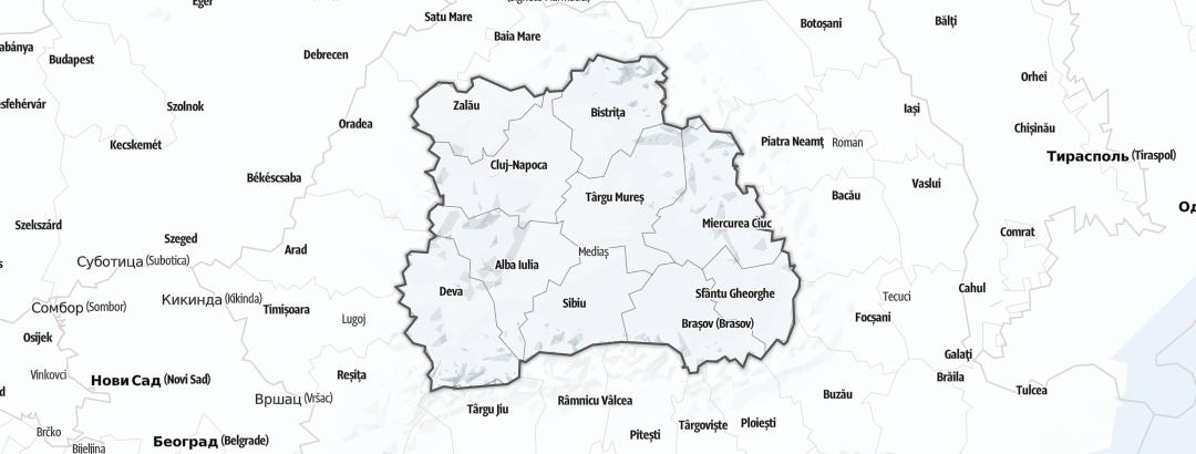 Map / Ski resorts in Transylvania