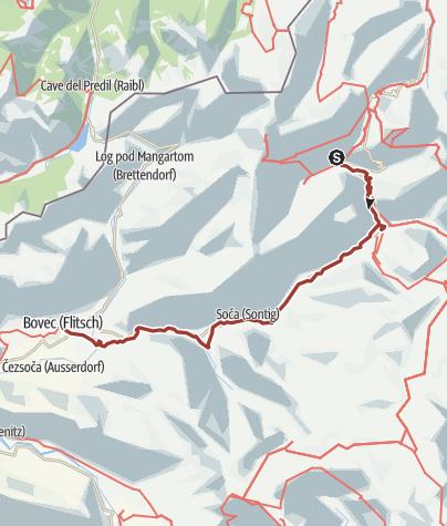 Map / Soča trail