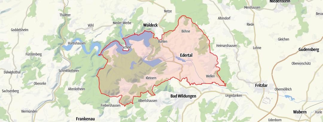 Karte / Eder-Radweg