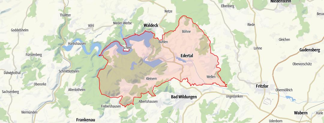 Map / Eder-Radweg