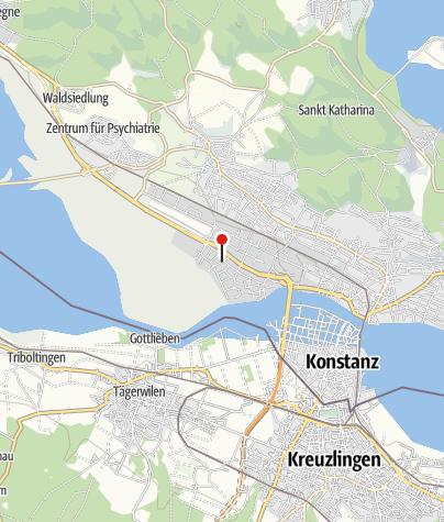 Karte / La Canoa Kanuzentrum Konstanz, Kai König