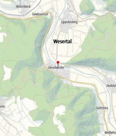 Karte / Parkplatz Gieselwerder