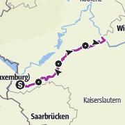 Map / Hunsrück-Radweg (Hunsrueck Cycle Route)