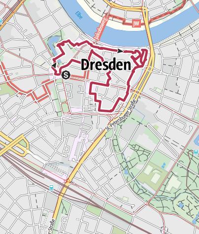 Map / Dresden Highlight Route