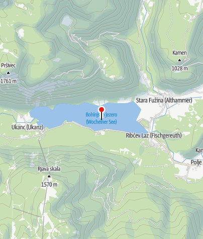 Map / Lake Bohinj