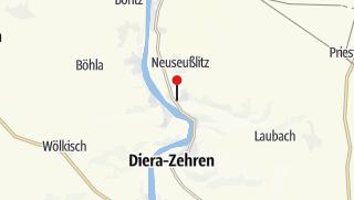 Karte / Historischer Ortskern Seußlitz