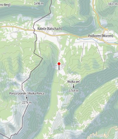 Karte / Skifluschanze Planica